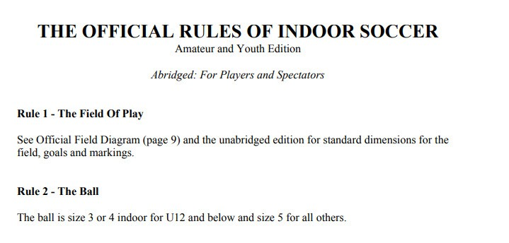 The-Official-Rules-Of-Indoor-Soccer-Amater-and-Youth-Edition