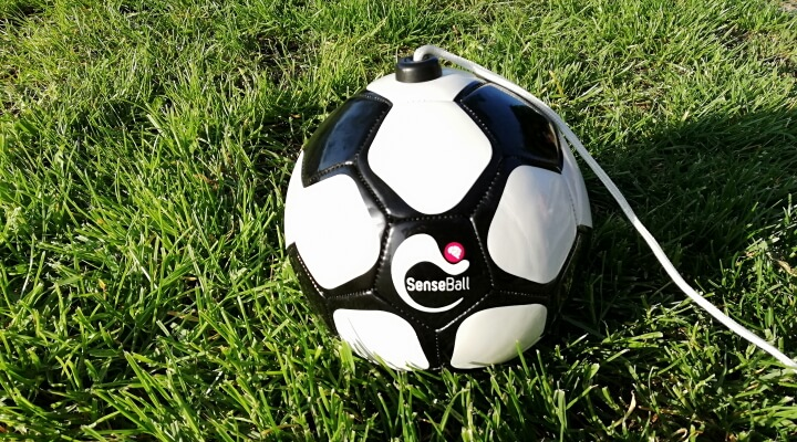 ball attached to string in grass