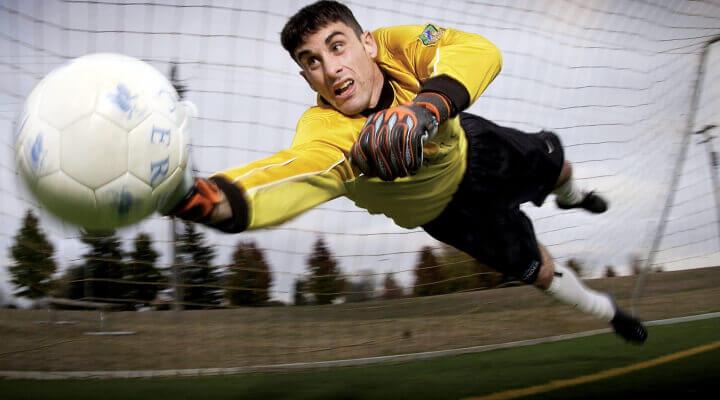 goalkeeper saves goal