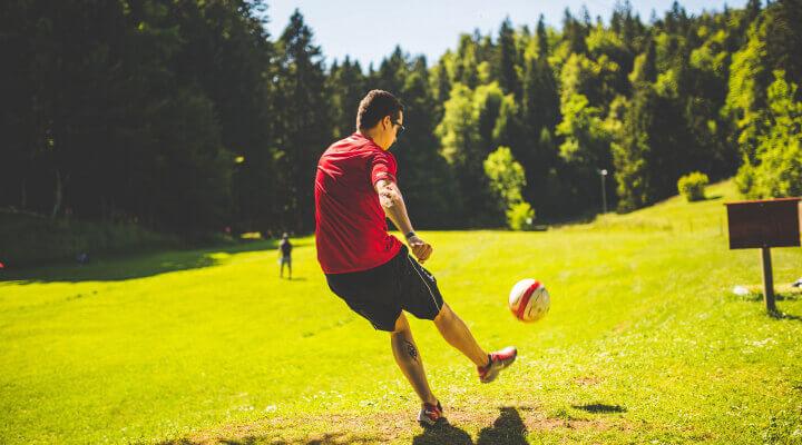 kicking in nature