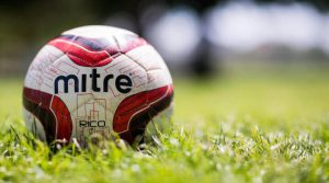 mitre ball on grass
